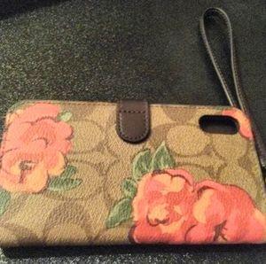 Coach Leather Cellphone Case/Wallet